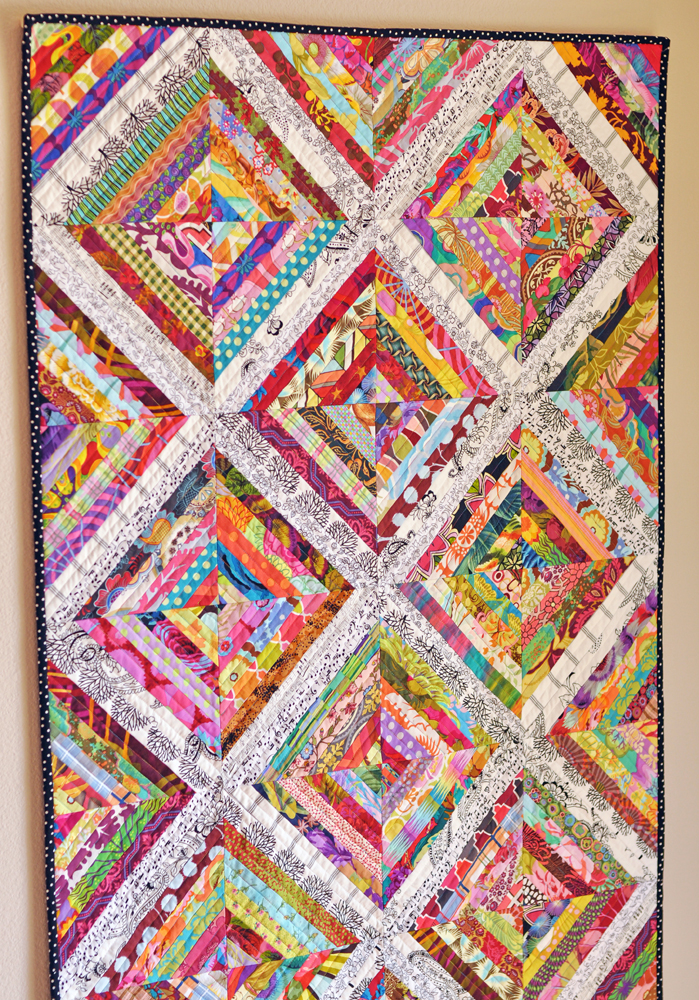 Quilternity 39 s place it 39 s on the wall for Scrap quilt
