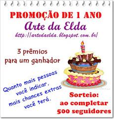 """Sorteio no Blog """"Arte da Elda""""."""