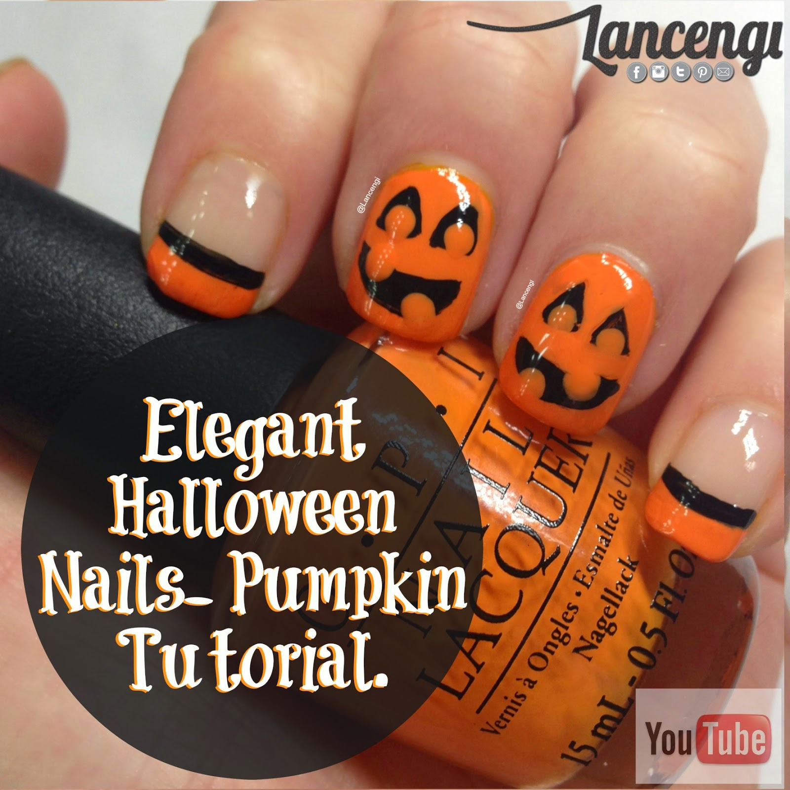 Top 3 pumpkin nails for fall lancengi manicure 1 cute pumpkin manicure 053 prinsesfo Choice Image