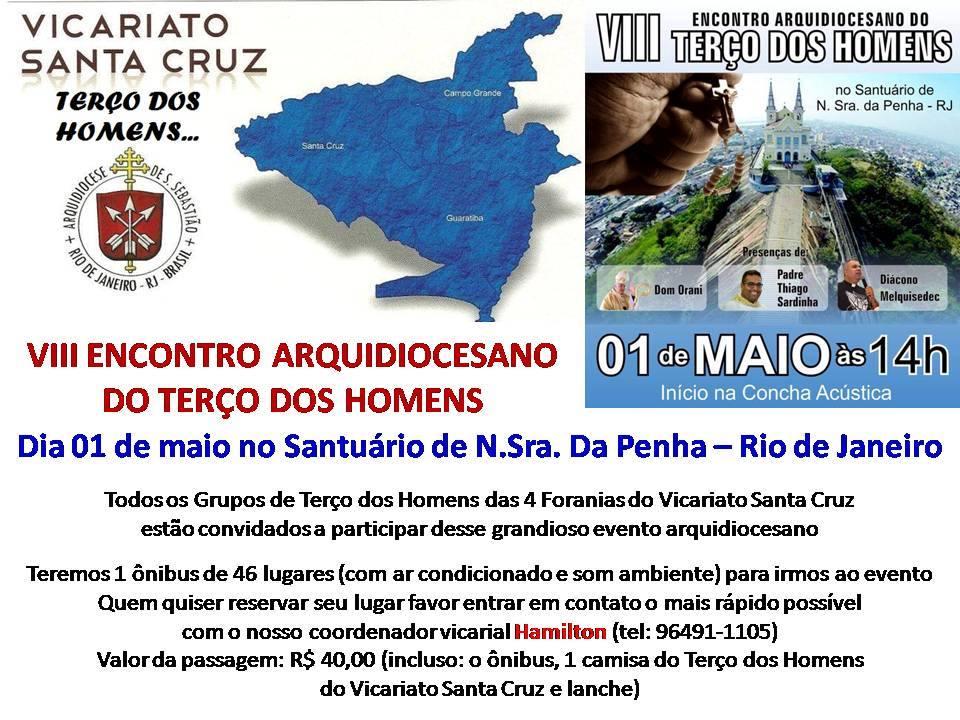 VIII ENCONTRO ARQUIDIOCESANO DO TERÇO DOS HOMENS - ARQRIO