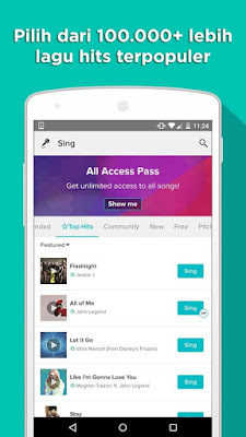 Sing karaoke by Smule 3.7.5 Apk - Screenshot - 1