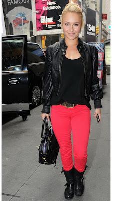 Hayden Panettiere, Hayden Panettiere J Brand 811 Red Jeans, J Brand, J Brand 811 Skinny Jeans, J Brand 811 Red Skinny Jeans, red denim, red jeans