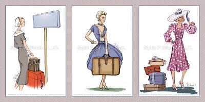 etichette per bagagli moda retro