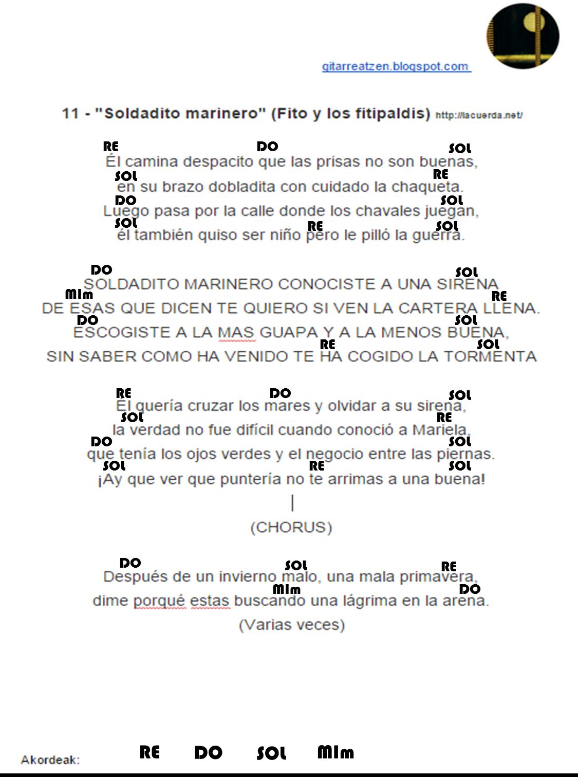 Gitarreatzen 11 Soldadito Marinero Fito Y Los Fitipaldis Kurtsoa 2014 15