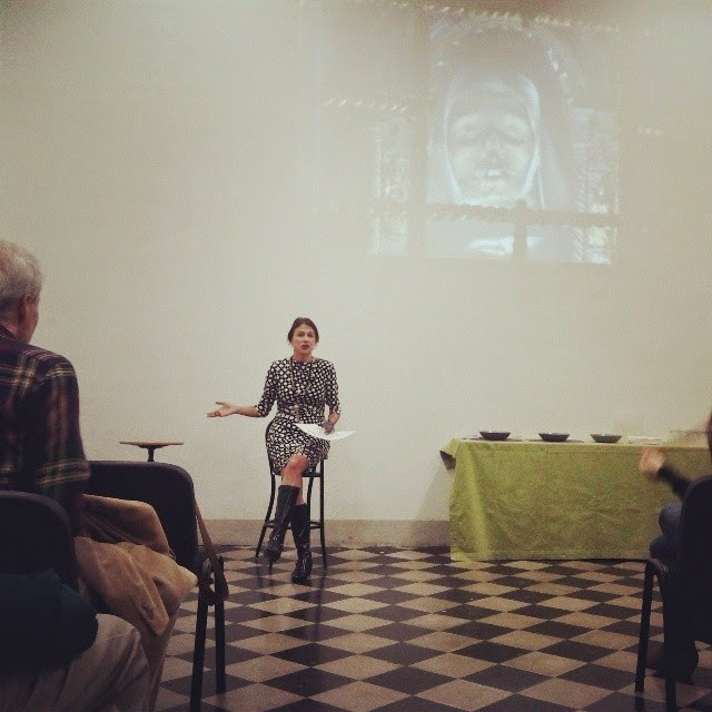 Nina during her talk at the Siena Art Institute
