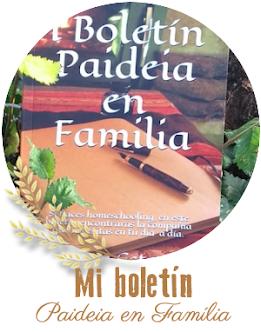 Boletín Paideia en Familia I