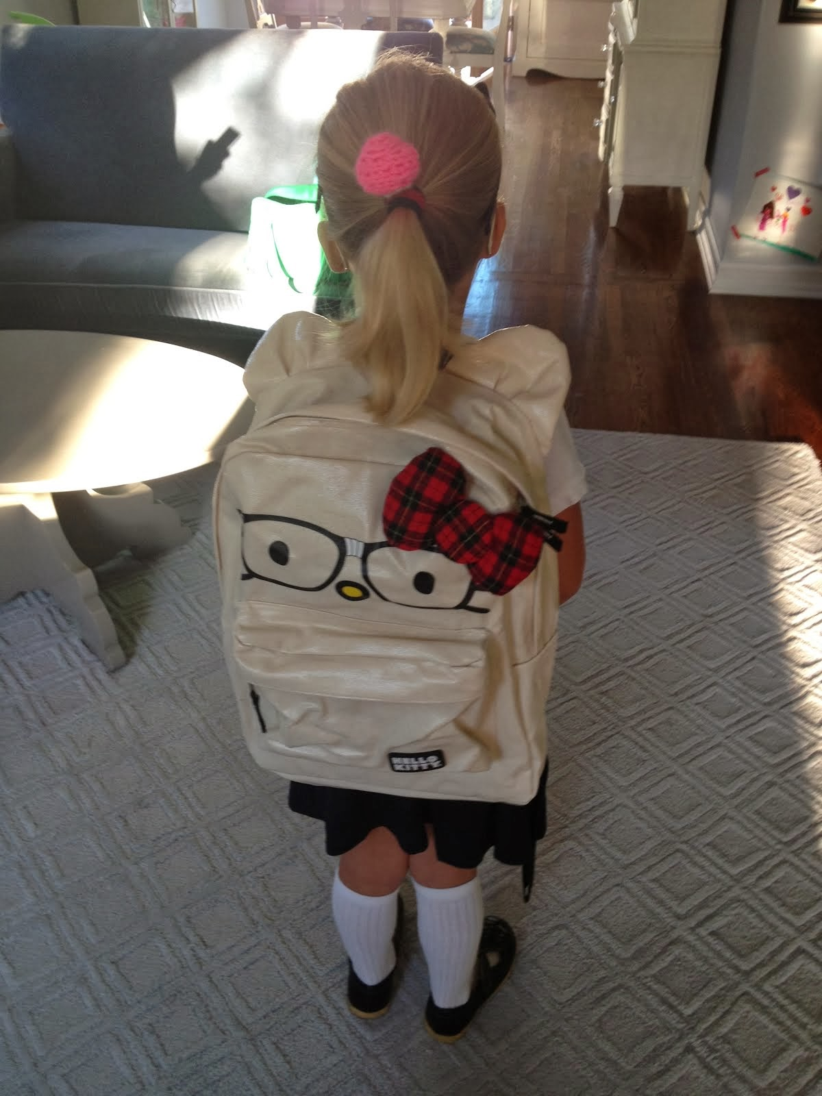 Off to school she goes...