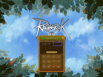 Tampilan Halaman Login 2nd Password Ragnarok Online 2