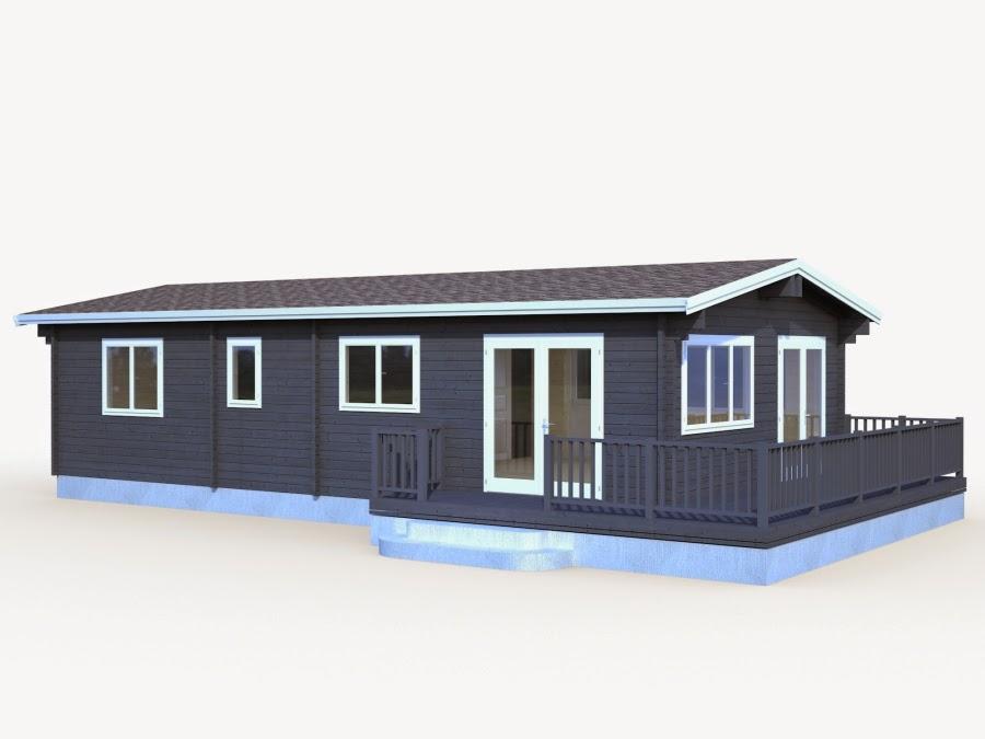 Casas de madera baratas bungalow de madera n rdica con - Casas madera nordicas ...