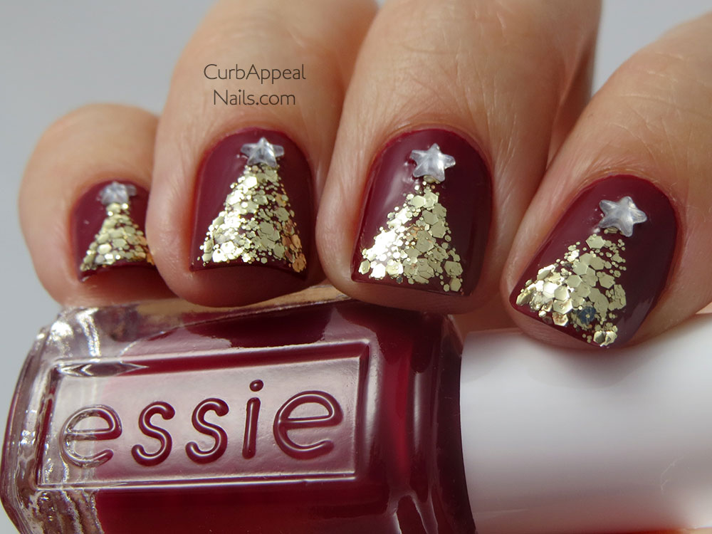 Curb Appeal Nails | Nail Art + Polish Blog: Glitter Christmas Trees ...