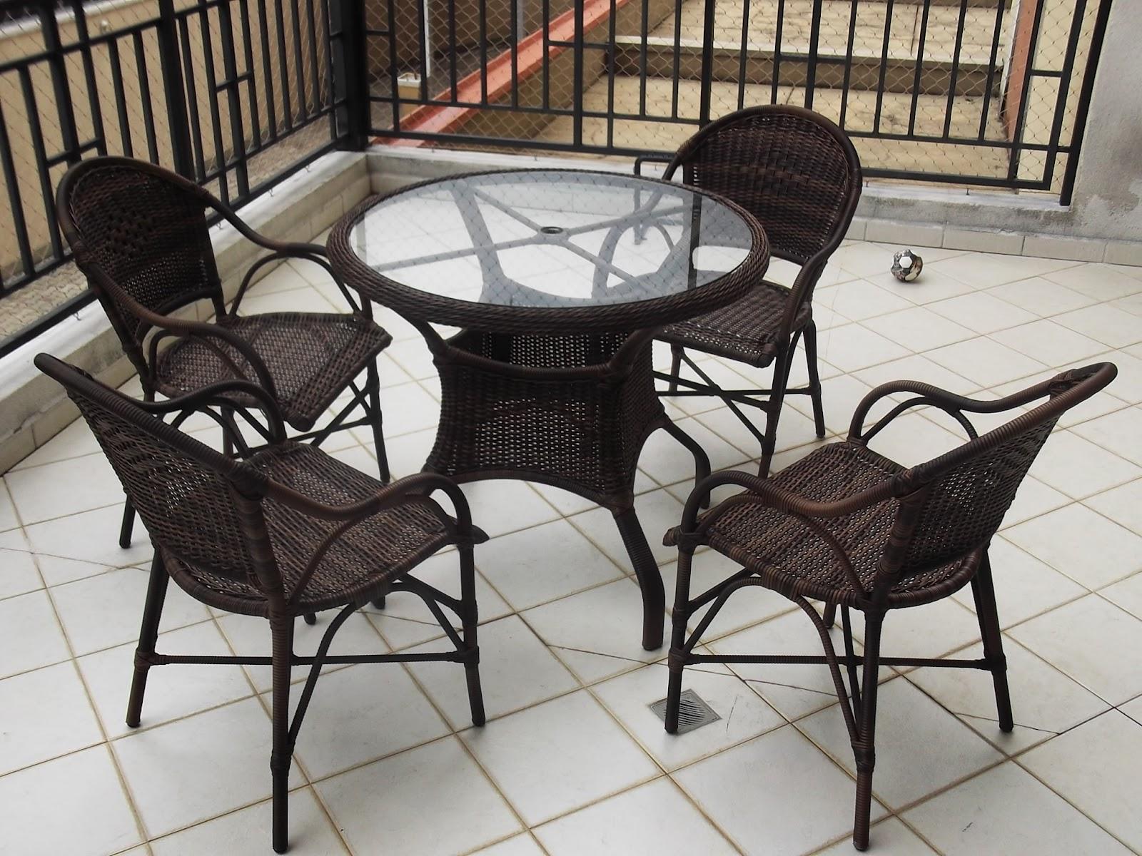 Móveis De Fibra Sintética Varanda De Apartamento Piscina E Jardim #7A6751 1600x1200