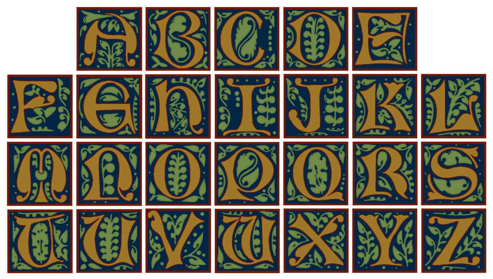 morass n With illuminated letters alphabet