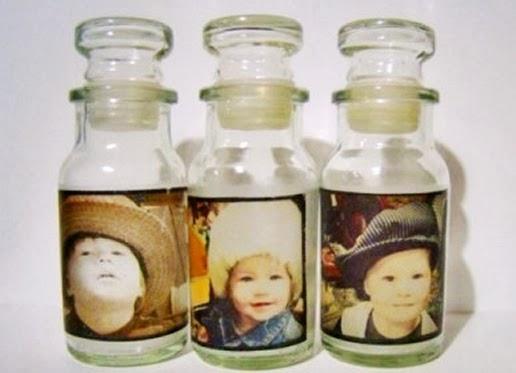 Portarretratos hechos con frascos tarros y botellas de for Ideas con frascos de vidrio