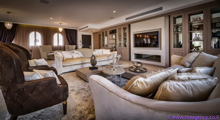 "Living room in an Elegant ""Jerusalem Dreams"" Penthouse Apartment"