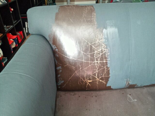 Shades of amber ascp leather sofa for How to paint leather furniture