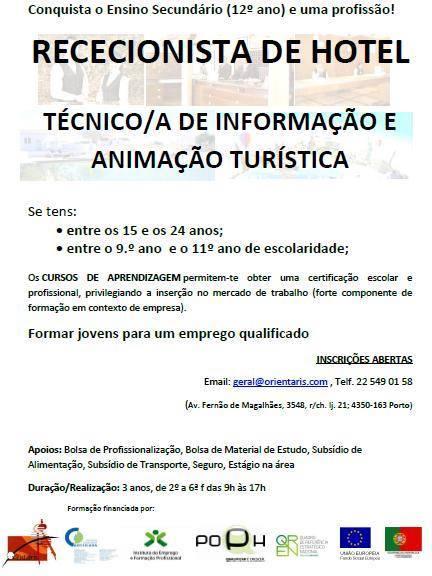 Cursos de aprendizagem no Porto (para jovens com habilitações entre o 9º e o 11º ano)