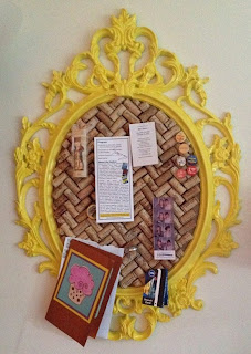 wine cork project corkboard frame