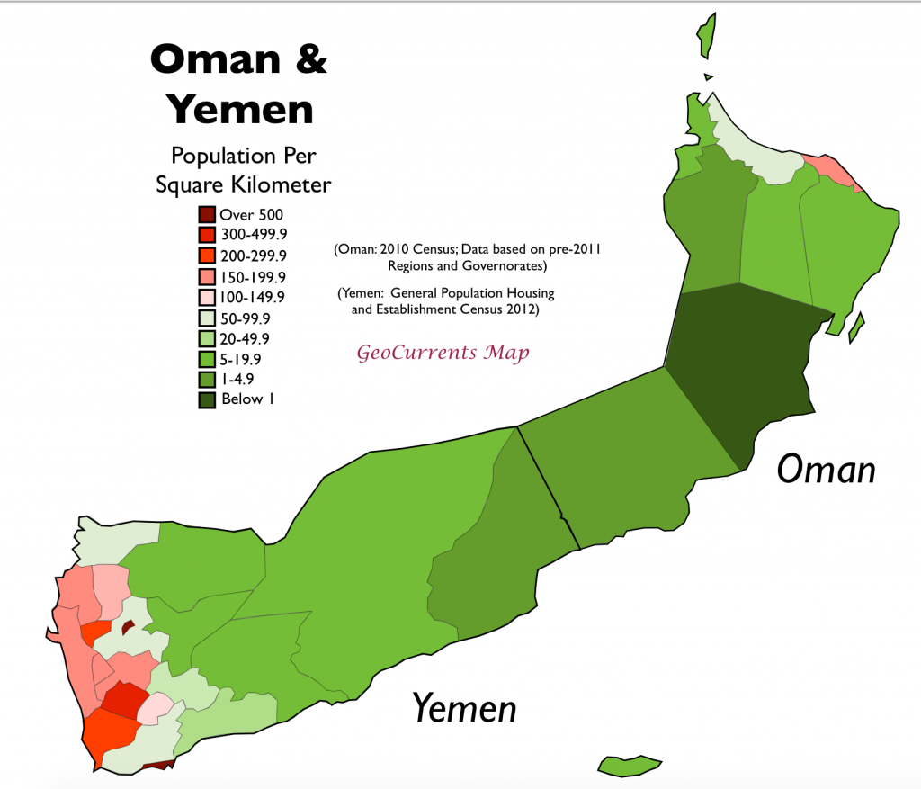 http www geocurrents info wp content uploads 2015 07 oman yemen population density map 1024x877 png