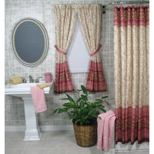 Modern furniture bathroom window curtains designs 2011 for Bathroom window curtains