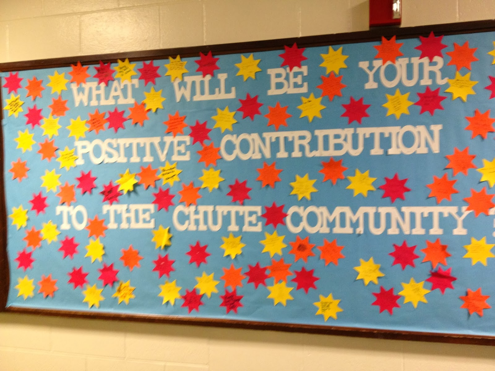 middle school Math Bulletin Boards | reused my door decoration ...