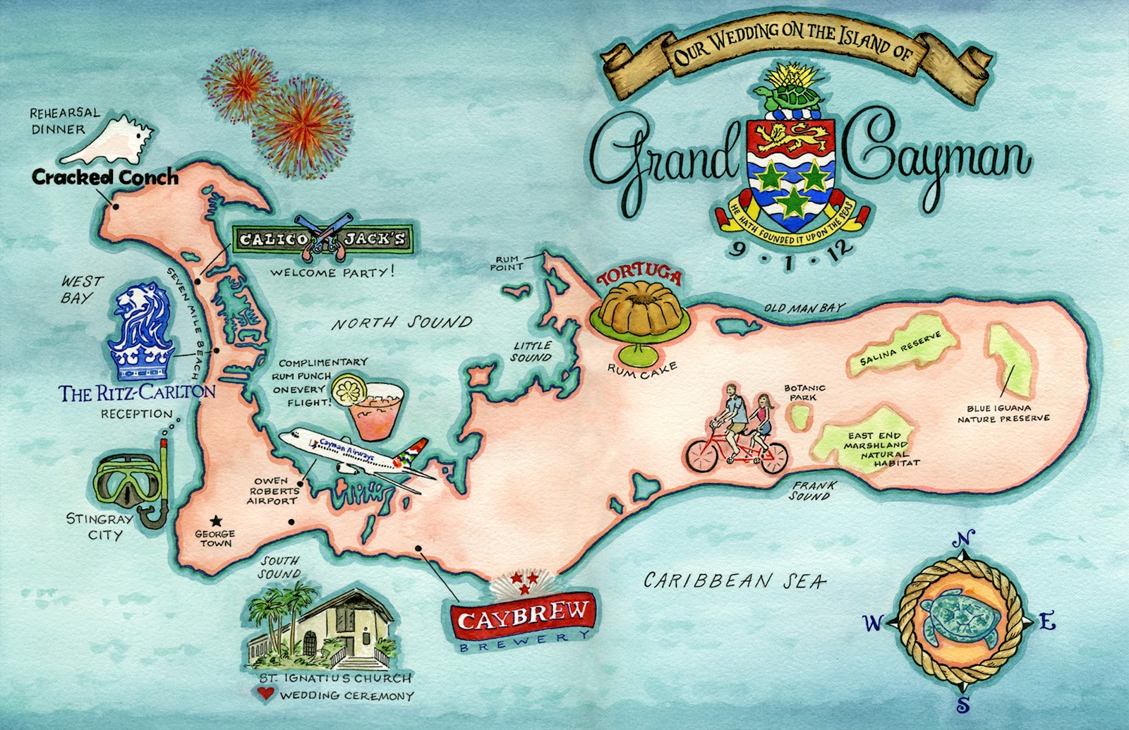 Invitations, Ink, Social Design Studio: Grand Cayman Island ... on belize map, grenada map, acapulco map, tampa bay cruise port terminal map, jamaica map, bermuda map, cozumel map, florida map, bahamas map, grand turk map, st. thomas map, venezuela map, seven mile beach map, mexico map, dominican republic map, hawaii map, caribbean map, aruba map, grand caicos map, grand caymen,