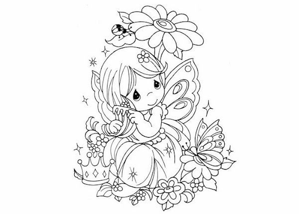 Free Printable Fairy Coloring Pages For Adults