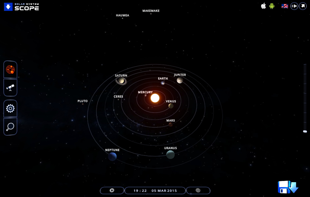 Solar System Simulator : Solar System Scope