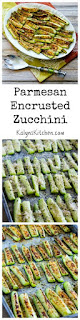 Parmesan Encrusted Zucchini [from KalynsKitchen.com}
