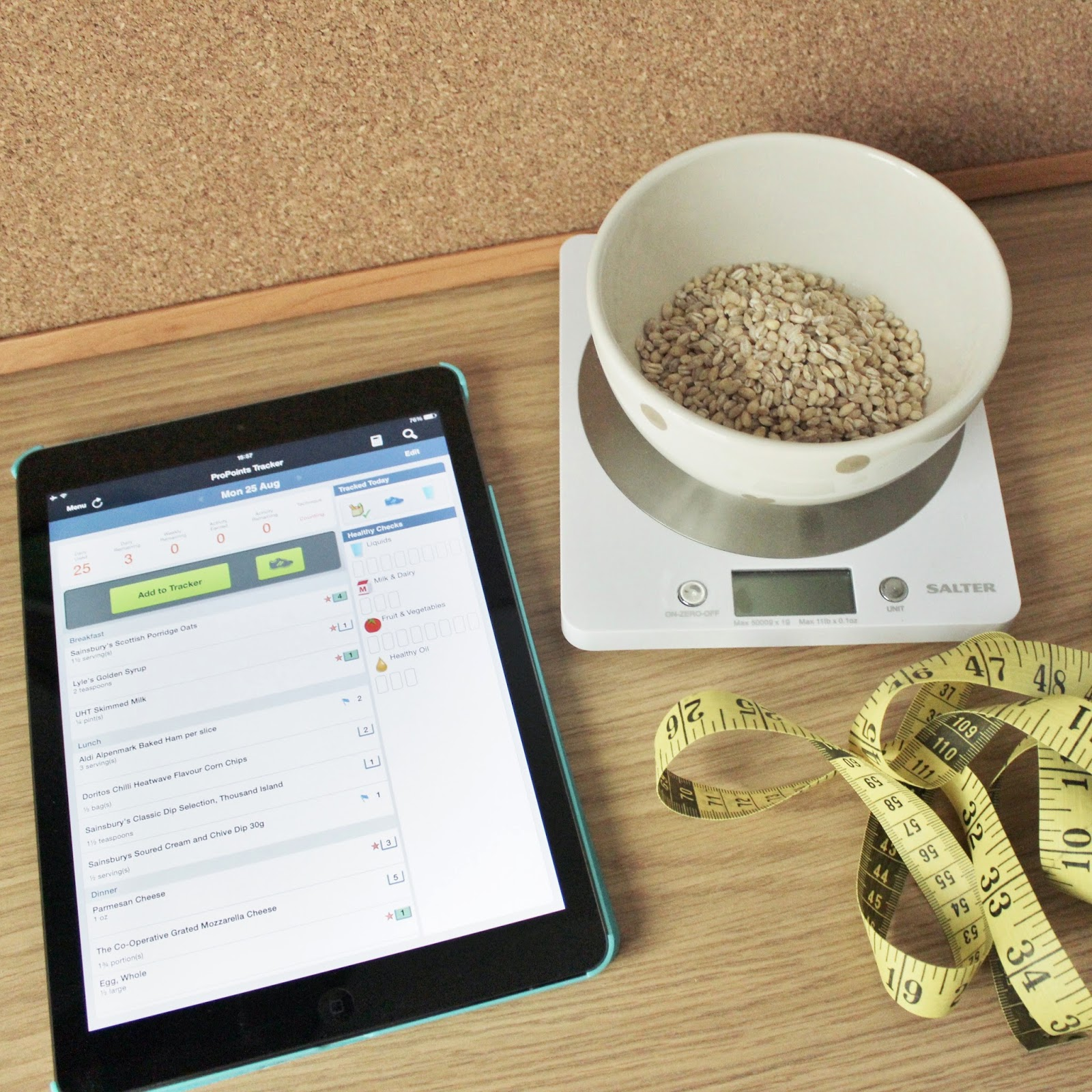 WeightWatchers app, Scales and Measuring tape
