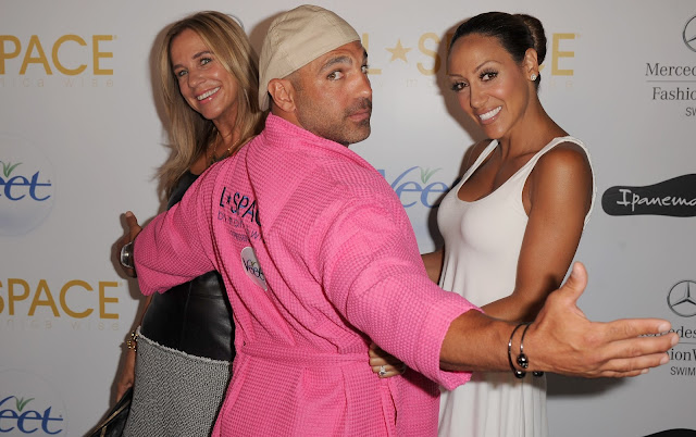 Monica Wise, Joey and Melissa Gorga at L*Space at MBFWS 2014