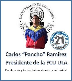 Carlos Pancho Ramirez  a la FCU-ULA