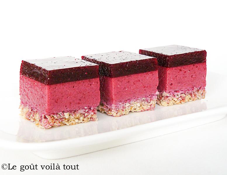 Carrés aux fruits rouges et au yaourt
