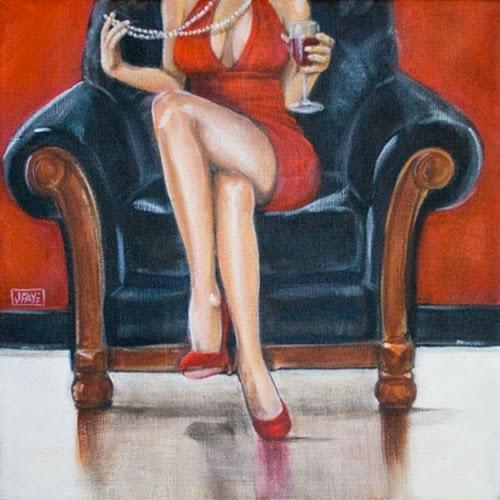 Госпожа в красном