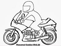 Gambar Mewarnai Pengendara Motor