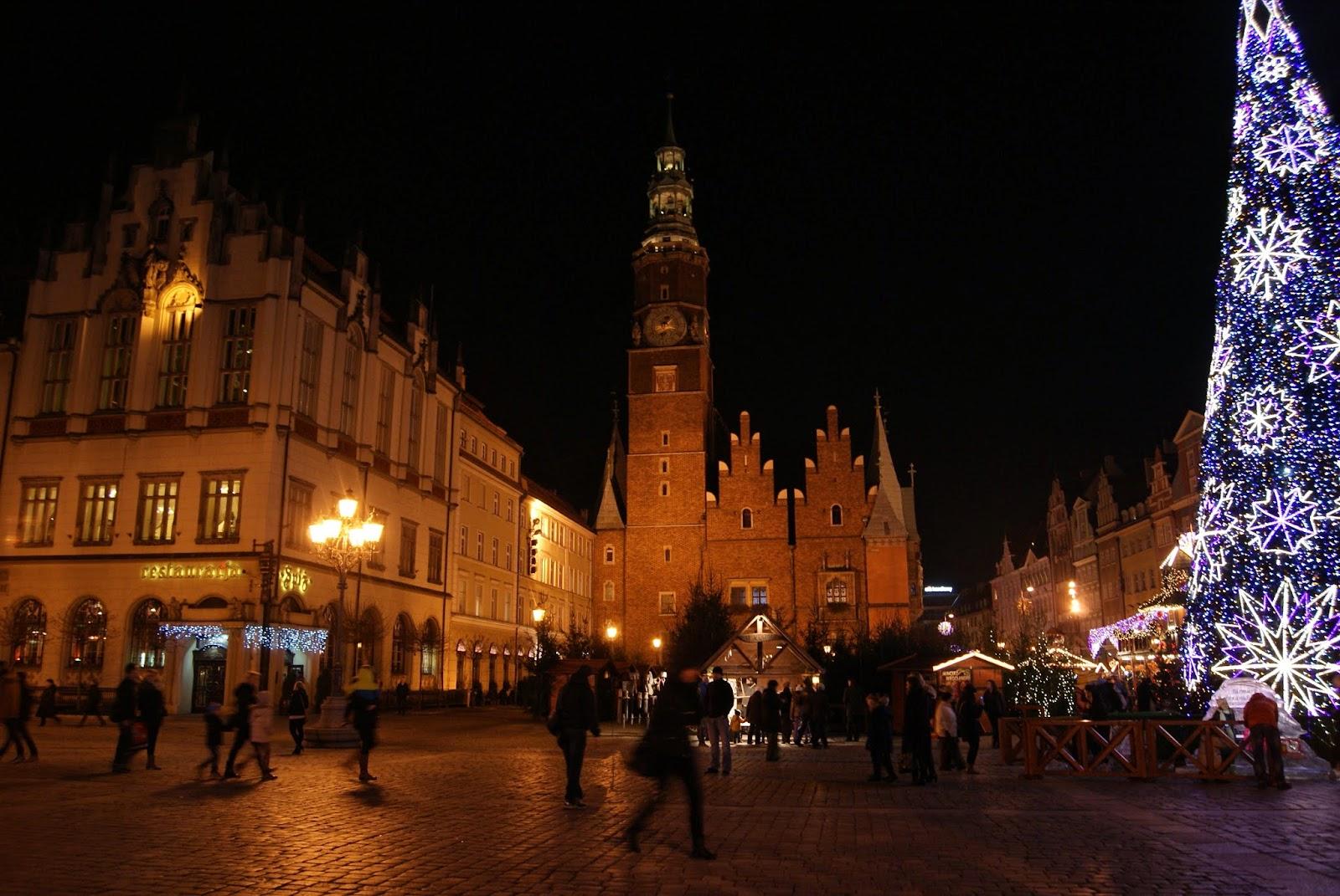 Rynek Wrocław choinka