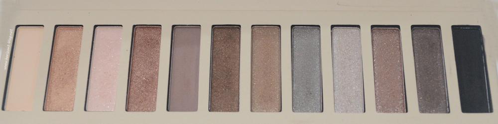 Farben der Nude Lidschatten Palette Accentra ac