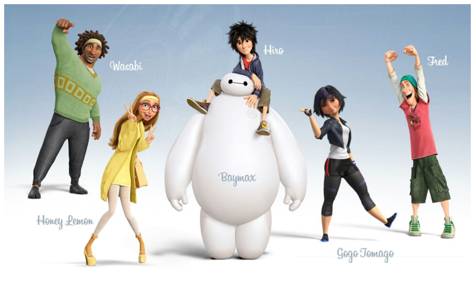 San Fransokyo Hiro Turns Into A Nearby Companion Robot Baymax And Transform The Group Of High Tech Hero Determined To Solve Mystery