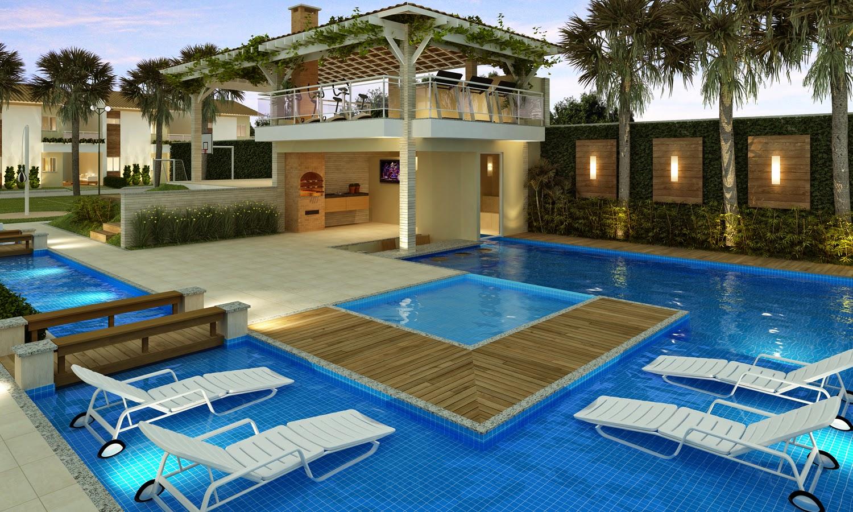 Inspira o casa com piscina mari beleza pura - Medidas de piscinas de casas ...