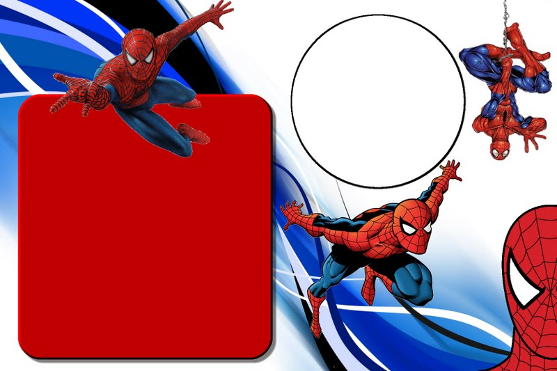 Homem aranha – kit completo – molduras para convites rótulos de