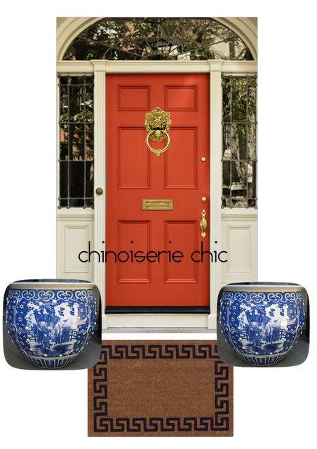 what color to paint front doorChinoiserie Chic The Chinoiserie Front Door  Glossy Black