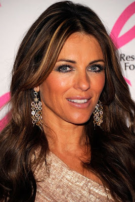 Elizabeth Hurley Dangling Gemstone Earrings