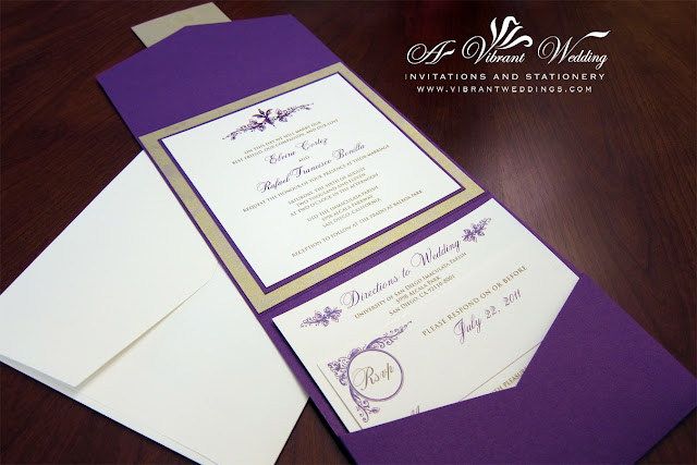 Purple Wedding Invitations Blue