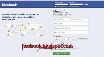 contoh daftar facebook