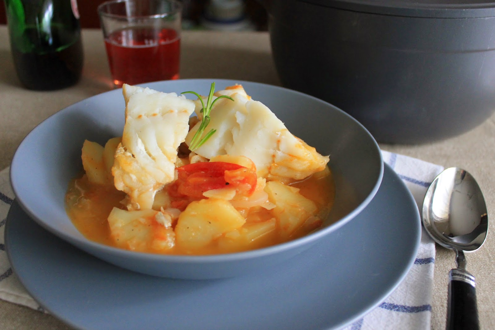 Principiando en la cocina bacalao guisado - Bacalao guisado con patatas ...