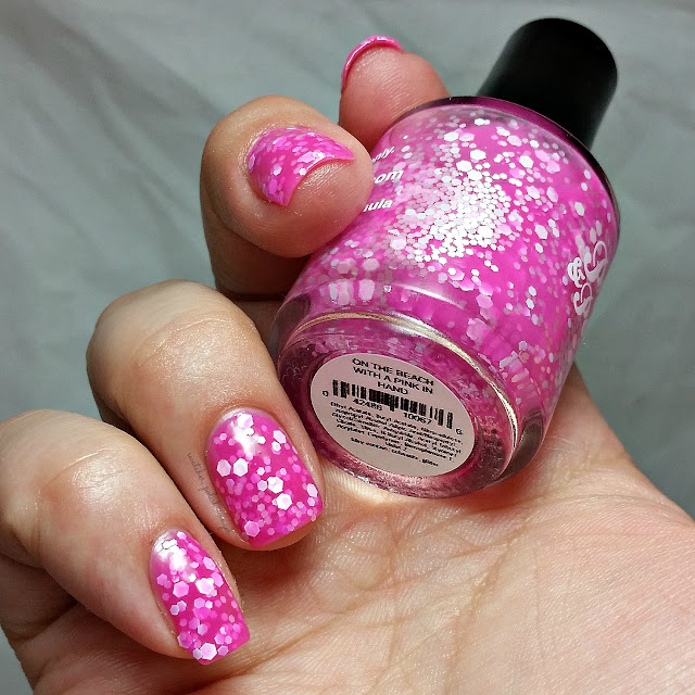 swatcher, polish-ranger | Pretty & Polished On the Beach With a Pink in Hand swatch