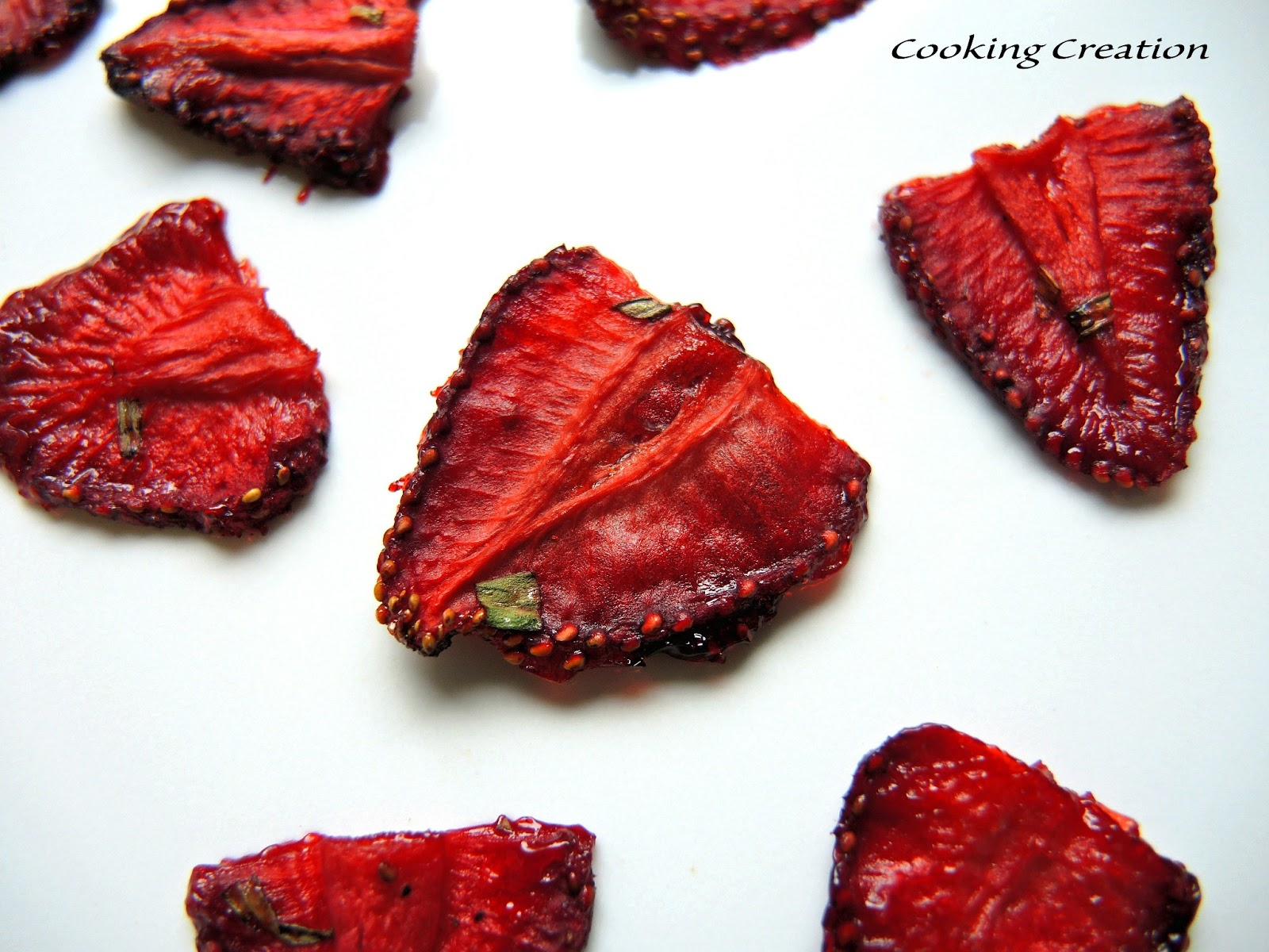 Cooking Creation: Easy Oven-Dried Strawberry Leather Slices
