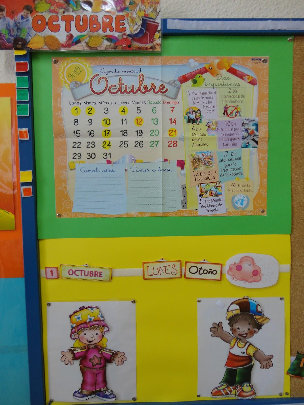 Imágen de calendario en foami - Imagui