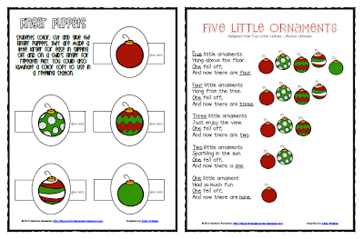 http://www.teacherspayteachers.com/Product/Five-Little-Ornaments-Poem-and-Finger-Puppets-Christmas-ELA-Math-1013835