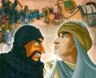 "Seorang anak muda memohon izin pada ibunya untuk menuntut ilmu nun jauh di suatu tempat. Meski berat hati, sang ibu mengizinkan anaknya pergi. Sebagai bekal, sang ibu memberinya dua hal. Bekal pertama adalah 40 keping emas warisan dari suaminya yang ia jahit di lengan atas mantel putranya. Sedangkanbekal kedua berupa nasehat supaya selalu memegang nilai kejujuran.   Hari keberangkatan pun tiba, sang ibu melepas putra tercinta dengan derai air mata dan doa. Dengan mengikuti suatu kalifah, anak muda bernama Abdul Qadi Jailani itu berangkat menuju Baghdad. Selepas meninggalkan Kota Hamadan, 60 perampok berkuda menghadang mereka, lalu merampok semua harta yang ada pada kafilah, kecuali Abdul Qadir. Salah seorang dari perampok yang melewatinya bertanya, ""Hai anak fakir, apa yang kau punya?"" Abdul Qadir Jailani menjawab, ""Empat puluh keping uang emas"". Perampok itu mengira Abdul Qadir itu mengejek, sehingga ia pun berlalu."