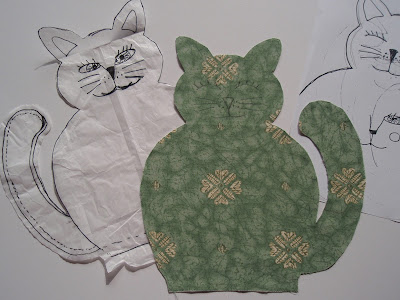 My draft for pattern for cat.